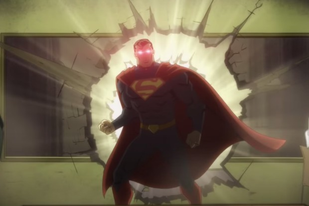 Evil Superman in the Injustice animated movie
