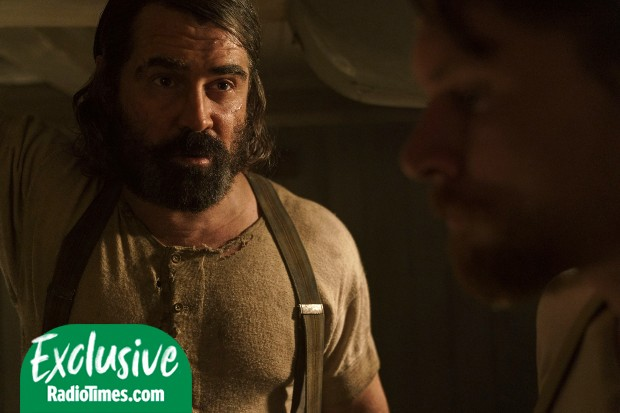 Colin Farrell and Jack O'Connell in The North Water