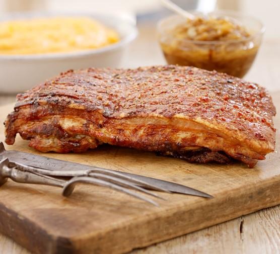 Sticky pork belly