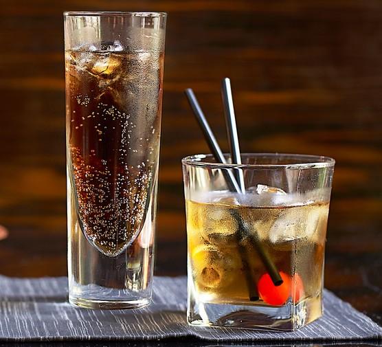Black Russian cocktails