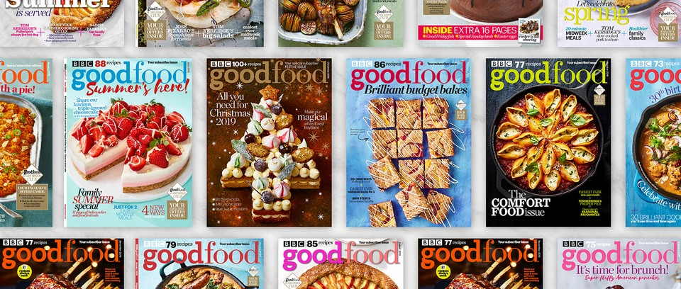 Various BBC Good Food magazine covers