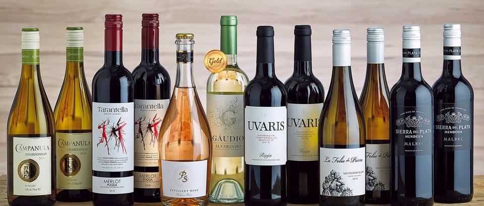 Example of wine bottles