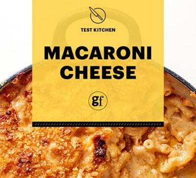 Macaroni cheese with title image