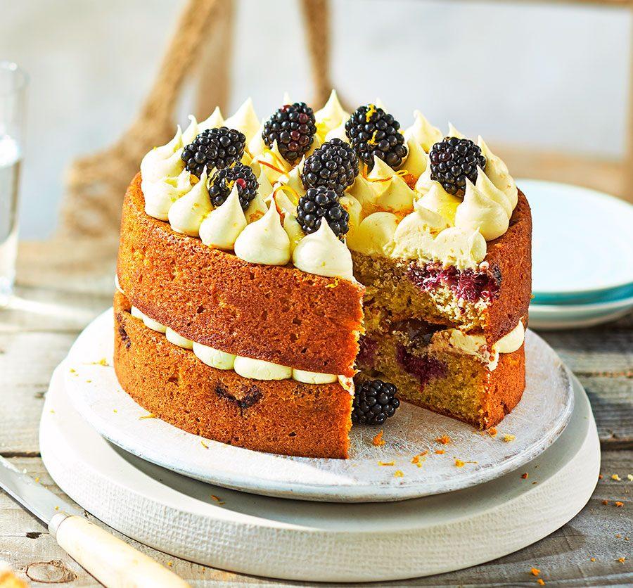 Blackberry & orange cake