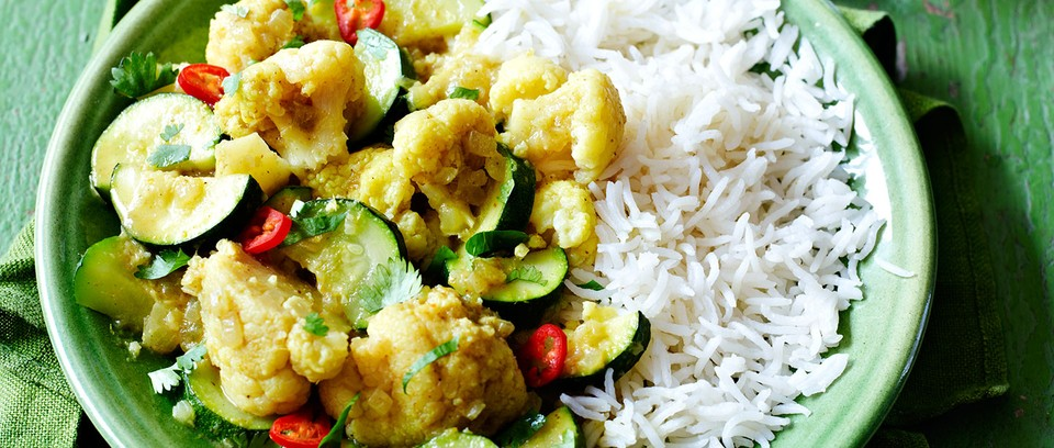 Courgette-andCauliflower Yellow Curry