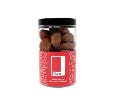 Farhi cocoa dusted caramelised pecans