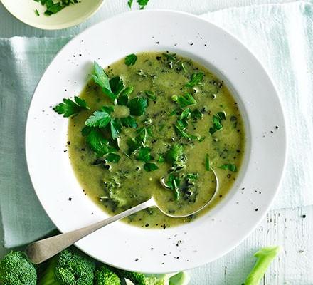 Alkalising green soup