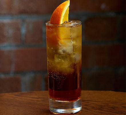 Americano served in a highball glass