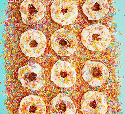 A collection of apple 'doughnuts'