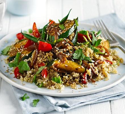 Asian quinoa stir-fry