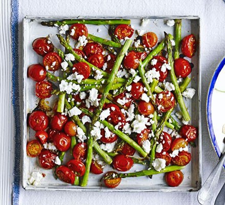 Roasted balsamic asparagus & cherry tomatoes