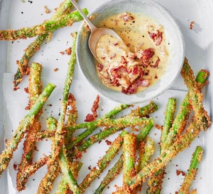 Asparagus fries & baconnaise