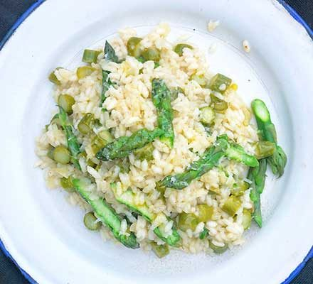 Asparagus risotto image