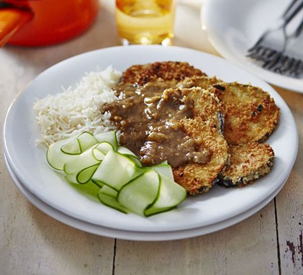 Aubergine Katsu Curry Recipe Bbc Good Food