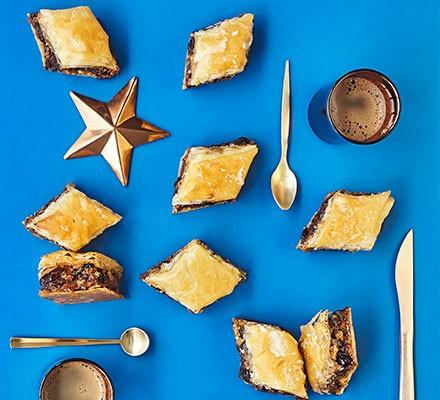 A selection of mince pie baklavas