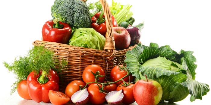 vegetarian diet with a few days of meat