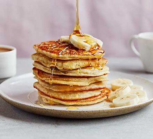A stack of egg-free banana pancakes