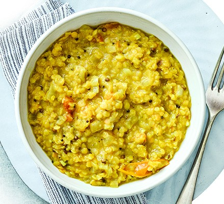 Basic lentils served in a bowl