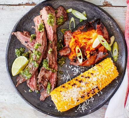 Bavette with chimichurri sauce