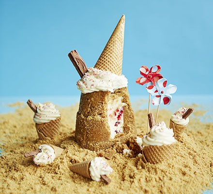 Cheesecake biscuit beach