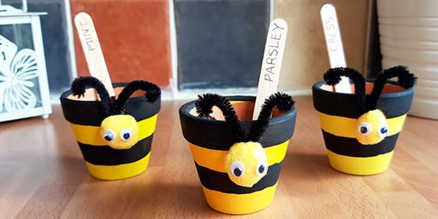 Bee flower pots