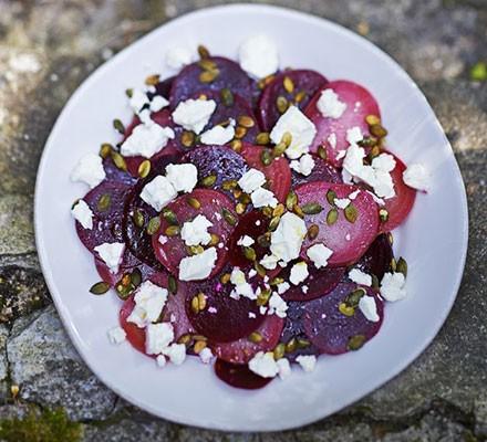 Heirloom beetroot & feta salad