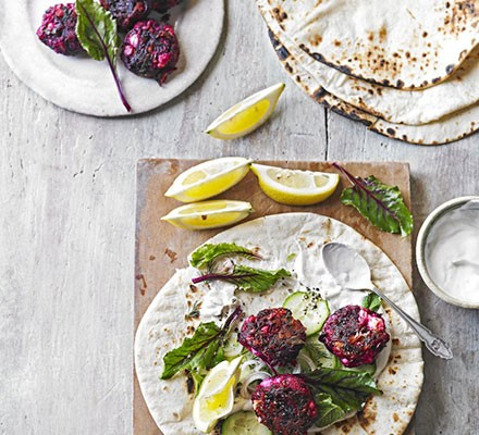 Beautiful beetroot & feta patties