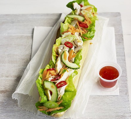 Vietnamese chicken baguettes (Bhan Mi)