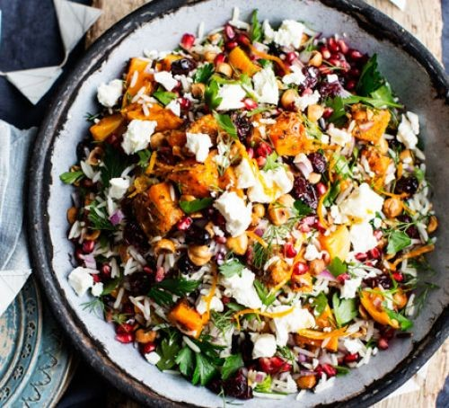 Persian black and white rice salad