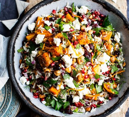 Black & white rice salad with cumin-roasted butternut squash image