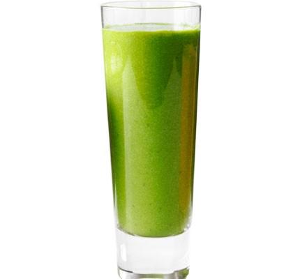 A glass of kale and avocado smoothie