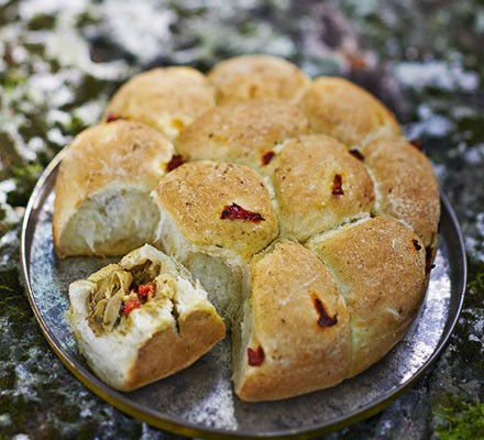 Tear-and-share stuffed deli rolls