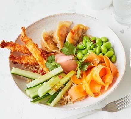 Brown rice canapé bowl