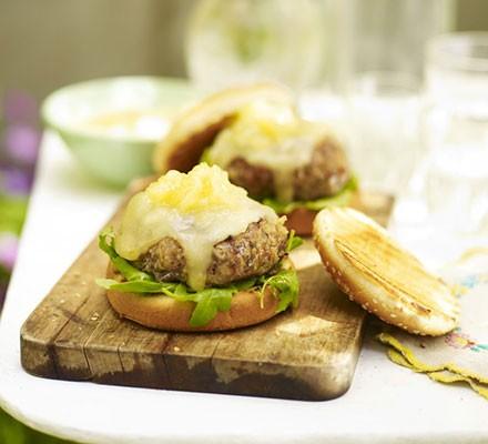 Pork & thyme cheeseburgers