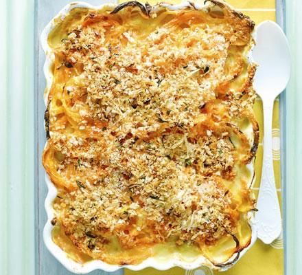 Spiralized butternut mac 'n' cheese