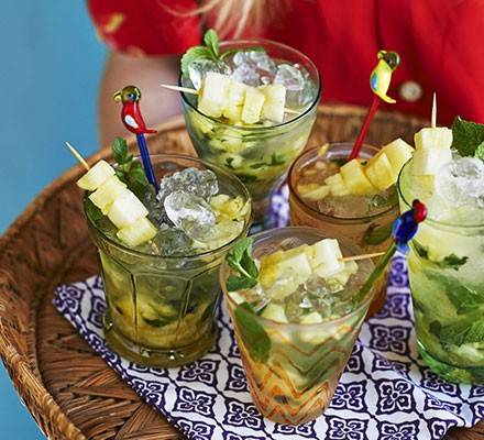 Caipirinhas with pineapple