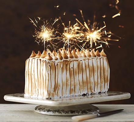 Toasted marshmallow & ginger cake
