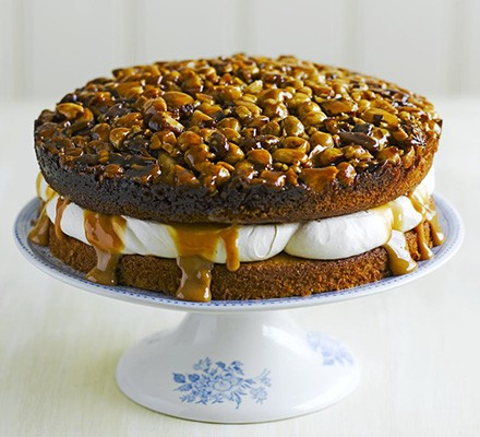 Utterly nutterly caramel layer cake