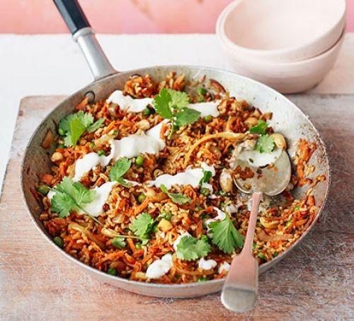 Vegetarian Indian: carrot biryani