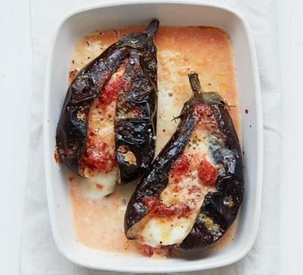 Cheat's aubergine Parmigiana