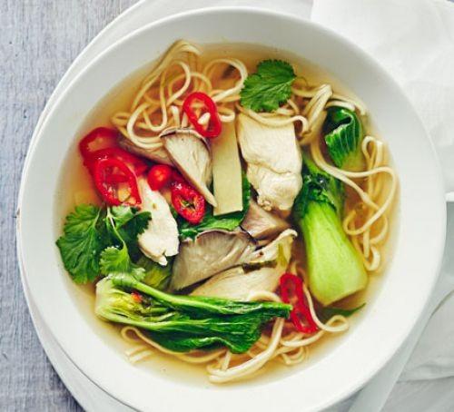 Chicken ramen in bowl