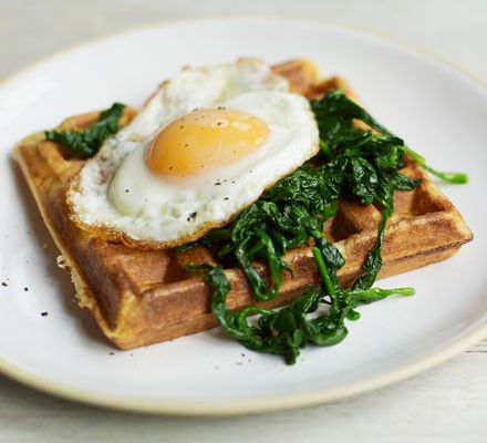 Cheese & herb waffles