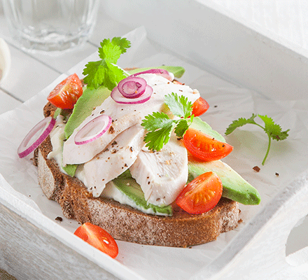 Chicken & avocado sandwich topper