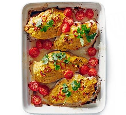Chicken korma melts