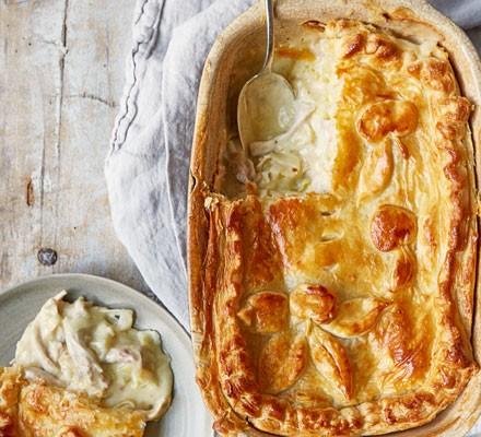 Chicken, leek and cider pie 2016