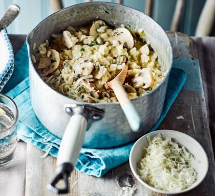 One-pot chicken & mushroom risotto