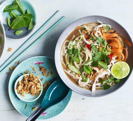 Vietnamese Chicken Noodle Soup Pho Recipe Bbc Good Food