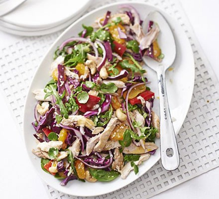 Asian chicken, mandarin & cashew salad