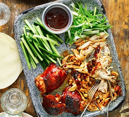 Chinese chicken with pancakes