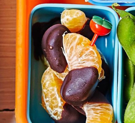 Choco-dipped tangerines